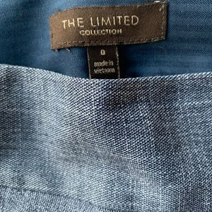 The Limited Skirts - The Limited Chambray Seamed Pencil Skirt 0